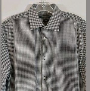 John Varvatos Luxe Men's Size 16 Black White Check